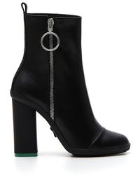 Off-White c/o Virgil Abloh - Block Heel Ankle Boots - Lyst