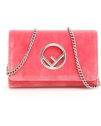 3094eb1f24a3 Lyst - Fendi Ff Chain Strap Wallet Bag