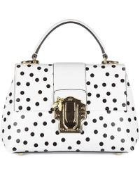 0a89a06f3368 Dolce   Gabbana Embellished Polka-dot Sicily Bag in Black - Lyst