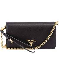Prada Saffiano Chain Clutch Bag