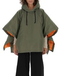 Comme des Garçons - Oversized Cropped Hooded Jacket - Lyst