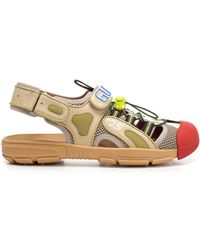 aef21b5b9d05 Gucci Gg Supreme Cat Sandal in Natural for Men - Lyst