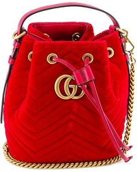 Gucci - GG Quilted Bucket Bag - Lyst