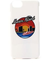 Maison Kitsuné - Waterfront Print Iphone 7 Case - Lyst