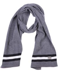 Bally - Striped Logo Detail Scarf - Lyst