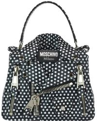 Moschino - Plka Dot Biker Jacket Tote Bag - Lyst