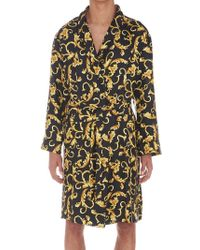 Versace - Printed Belted Robe - Lyst
