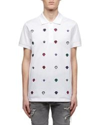 ef328cdb6 Dior Homme - Bee Embroidered Polo Shirt - Lyst