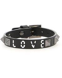 Valentino - Rockstud Love Leather Bracelet - Lyst