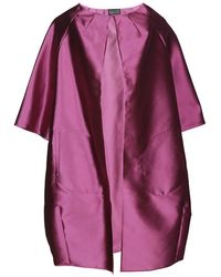Gianluca Capannolo Metallic Oversized Coat - Purple