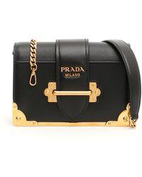82b2dbf64cb0 Lyst - Prada Cahier Shoulder Bag in Black