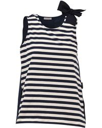 Moncler - Striped Bow Top - Lyst