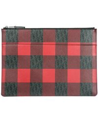 Dior Homme - Checked Clutch Bag - Lyst