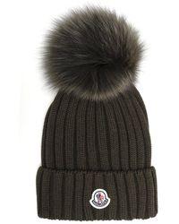 Moncler - Fur Detail Beanie - Lyst