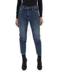 Current/Elliott - Skinny Faded Jeans - Lyst
