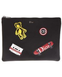 Dior Homme - Patch Clutch Bag - Lyst