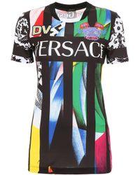 Versace - Showroom Adress Mesh T-shirt - Lyst