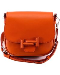 Tod's - Double T Saddle Bag - Lyst
