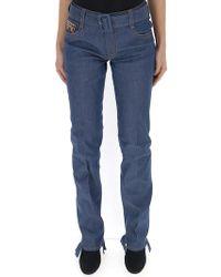 Prada - Belted Logo Jeans - Lyst