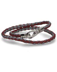 Tod's - Braided Interwoven Double Wrap Bracelet - Lyst