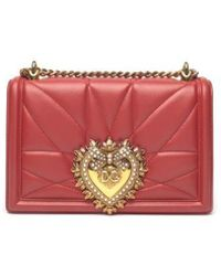 78d3d4d043 Lyst - Dolce   Gabbana Sicily Crocodile and Snake Cross-Body Bag in Red