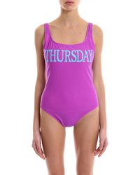 Alberta Ferretti - Rainbow Week Thursday Swimsuit - Lyst