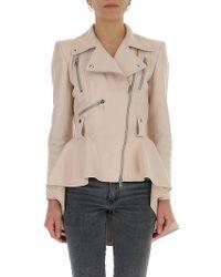 Alexander McQueen - Tailcoat Leather Jacket - Lyst