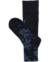 Sacai - Floral Print Socks - Lyst