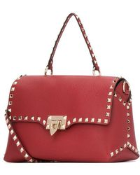 775e73049c Valentino Rockstud Small Chain Flap Bag in Purple - Lyst