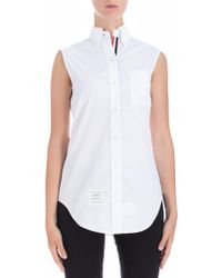Thom Browne - Sleeveless Shirt - Lyst