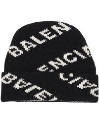 Balenciaga - Logo Beanie Hat - Lyst