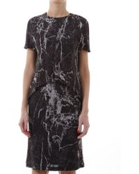 Balenciaga - Marble Print Dress - Lyst