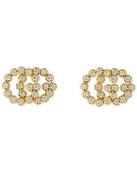 Gucci - Studded GG Running Earrings - Lyst