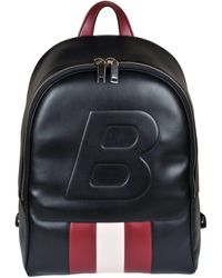 Bally - Embossed B Backpack - Lyst