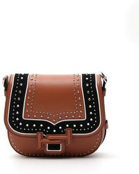 Tod's - Studded Double T Saddle Bag - Lyst