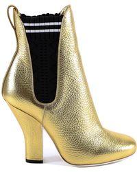 Fendi - Metalic Ankle Boots - Lyst