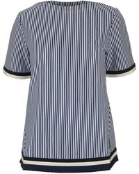 Moncler - Striped T-shirt Blouse - Lyst