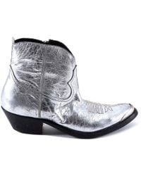 Golden Goose Deluxe Brand - Metallic Young Western Boots - Lyst