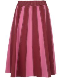Valentino - A-line Striped Skirt - Lyst
