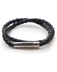 Tod's - Woven Leather Bracelet - Lyst
