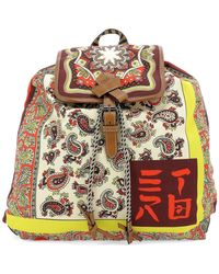 Etro - Paisley Printed Backpack - Lyst