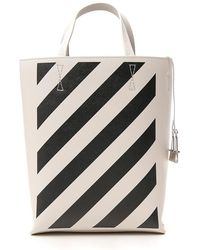 2e34f493b Off-White c/o Virgil Abloh Logo Printed Pvc Tote Bag in White - Save 11% -  Lyst