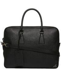 Prada - Zipped Top Handle Briefcase - Lyst