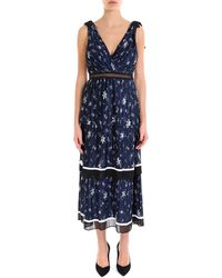 2a41d0f76e79 Recently sold out. Self-Portrait - Ruffled V-neck Midi Dress - Lyst