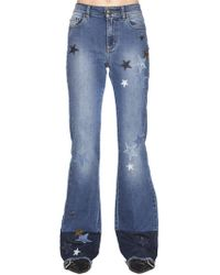 RED Valentino - Star Flared Jeans - Lyst