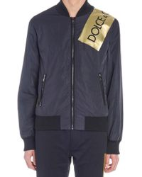 8158838e4abc Dolce & Gabbana Leather Jacket King Cards Patch in Black for Men - Lyst
