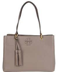 352c89999f5d Tory Burch Borsa A Mano Mcgraw In Pelle Sabbia Women s Handbags In ...