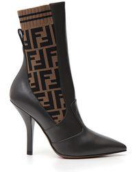 Fendi - Ff Sock Ankle Boots - Lyst