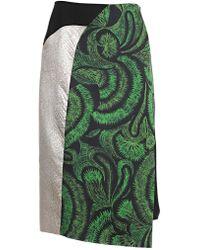 Dries Van Noten - Contrast Print Skirt - Lyst