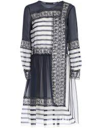 Alberta Ferretti - Panelled Lace Detailed Dress - Lyst